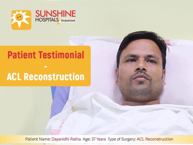 Mr. Dayanidhi Ratha(37) Underwent An ACL Reconstruction by Dr. Sarthak Patnaik