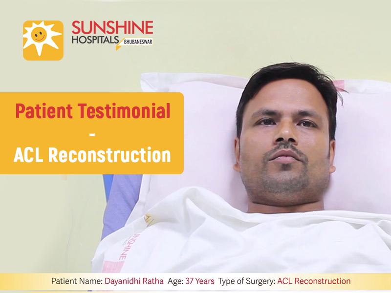 Mr. Dayanidhi Ratha(37) Underwent An ACL Reconstruction by Dr. Sarthak Patnaik