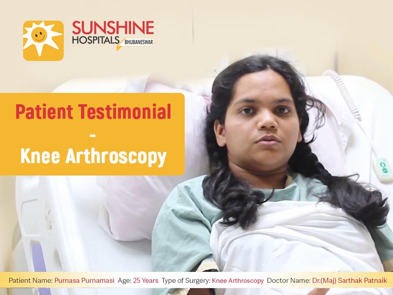 Miss. Purnasa Purnamasi(25) Get's Knee Arthroscopy by Dr. Sarthak Patnaik