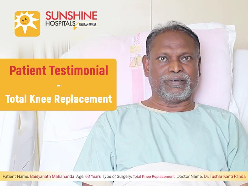 Mr. Baidyanath Mahananda(63) Get Total Knee Replacement by Dr. Tushar Kanti Panda
