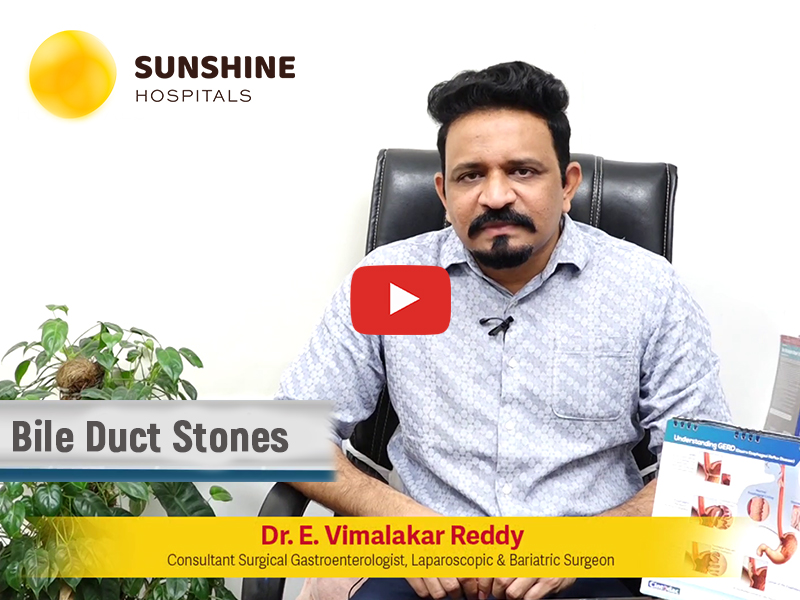 Dr. Vimalakar Reddy, Consultant Surgical Gastroenterologist Talks On Treatment for Bile Duct Stones(Telugu)