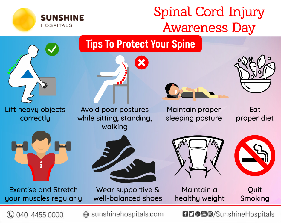 Tips To Protect Your Spine – Spinal Cord Injury Awareness Day