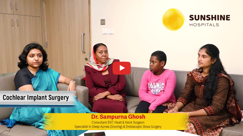 A 9yrs Old Suaad Bashir Operated For Right Cochlear Implant By Dr. Sampurna Ghosh